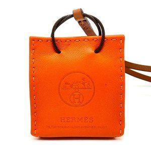 HERMES Shopper charm Sac Orange strap charm Anyo M